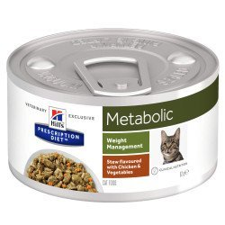 Hill's Prescription Diet Cat Metabolic Boite Mijoté au Poulet et Légumes