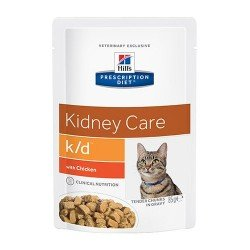 Hill's Prescription Diet Cat K/D Sachet Bouchées en Sauce au Poulet